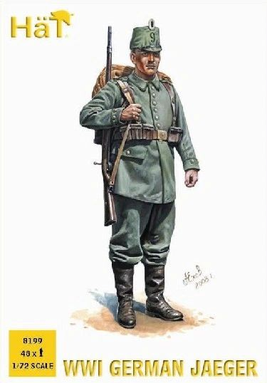1/72 WWI German Jaegers (48) - HAT-8199