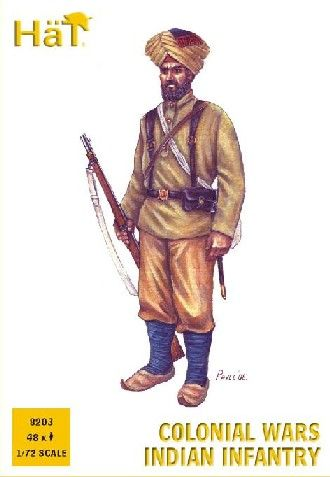 1/72 Colonial Wars Indian Infantry (48) - HAT-8203