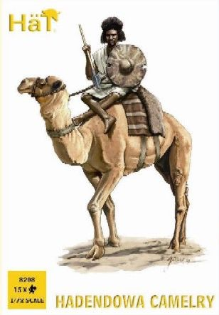 1/72 Colonial Wars Hadendowa Camelry (15 Figs & 12 Camels) - HAT-8208