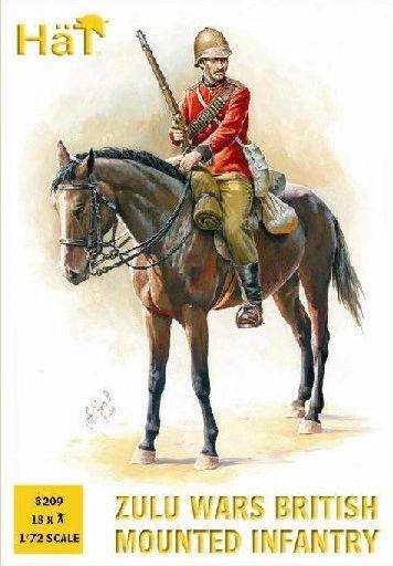 1/72 Zulu Wars British Infantry (12 Mtd, 6 Foot) - HAT-8209