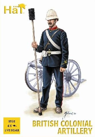 1/72 Colonial Wars British Artillery (24 w/4 Cannons) - HAT-8210