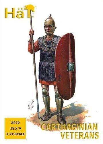 1/72 Punic War Carthaginian Veteran Spearmen (32) - HAT-8212
