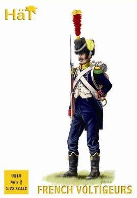 1/72 Napoleonic French Light Voltigeurs (56) - HAT-8218