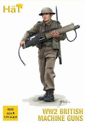 1/72 WWII British Machine Gun Team (32 & 4 Heavy Guns) - HAT-8228