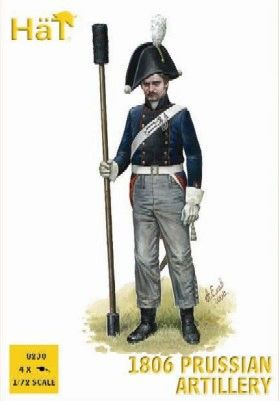 1/72 Napoleonic 1806 Prussian Artillery (16 w/4 Cannons) - HAT-8230