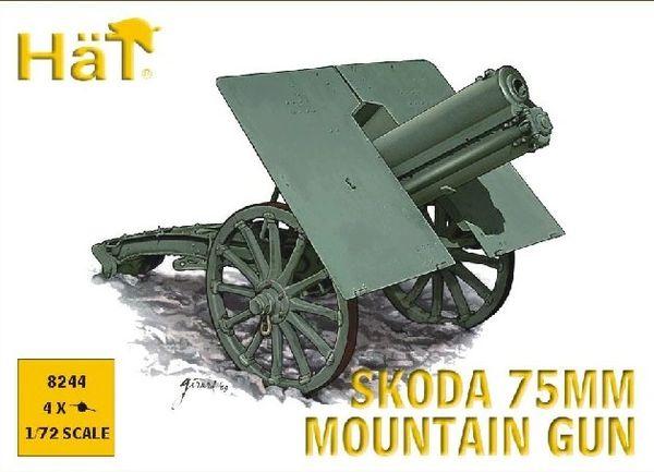 1/72 WWI Skoda 75mm Mountain Gun (4) - HAT-8244