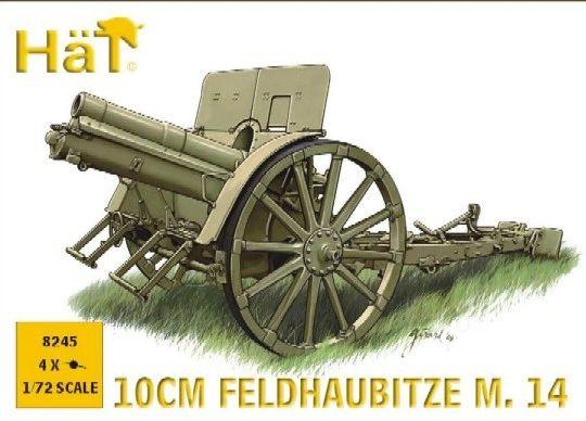 1/72 WWI Austrian 10cm M14 Field Gun (4) - HAT-8245