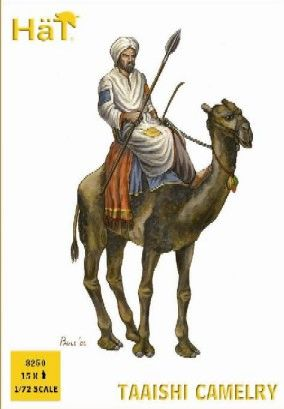 1/72 Colonial Wars Taaishi Camely (15 Figs & 12 Camels) - HAT-8250