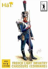 1/72 Napoleonic French Light Infantry Chasseurs Command (32) - HAT-8252