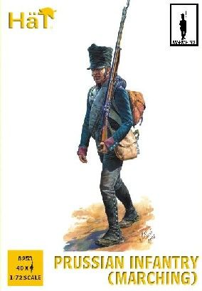 1/72 Napoleonic Prussian Infantry Marching (40) - HAT-8253