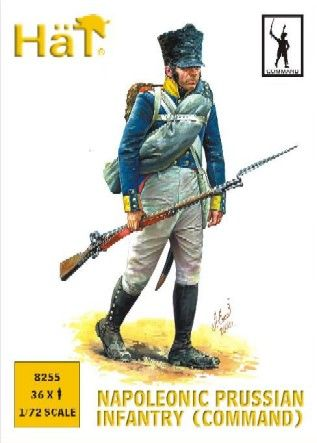 1/72 Napoleonic Prussian Infantry Command (36) - HAT-8255