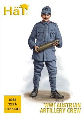 1/72 WWI Austrian Artillery Crew (32) - HAT-8258