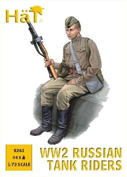 1/72 WWII Russian Tank Riders (44) - HAT-8263