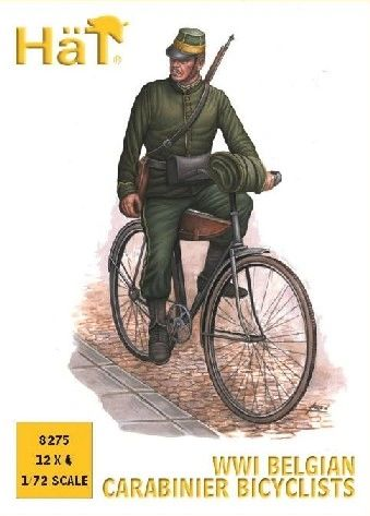 1/72 WWI Belgian Carabinier Bicyclists (12) - HAT-8275
