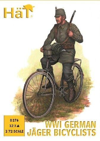 1/72 WWI German Jaeger Bicyclists (12) - HAT-8276