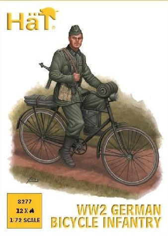 1/72 WWII German Bicycle Infantry (12) - HAT-8277