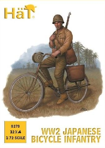 1/72 WWII Japanese Bicycle Infantry (12) - HAT-8278