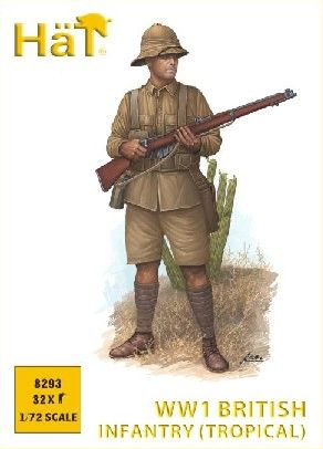 1/72 WWI British Infantry in Khaki Drill (Tropical) (32) - HAT-8293