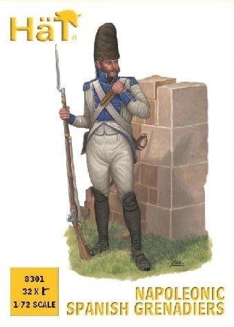 1/72 Napoleonic Spanish Grenadiers (32) - HAT-8301