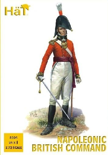 1/72 Napoleonic British Command (24) - HAT-8304