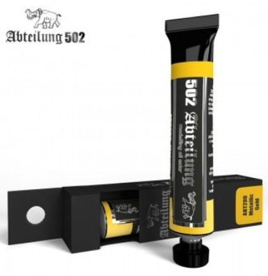 Weathering Oil Paint Metallic Gold 20ml Tube - Abteilung 200
