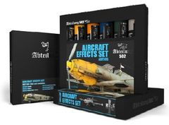 AIRCRAFT EFFECTS Weathering Oil Paint Set 6x20ml Tubes - Abteilung 502 ABT305