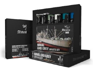 NAVAL & GREY EFFECTS Weathering Oil Paint Set 6x20ml - Abteilung 502 ABT306