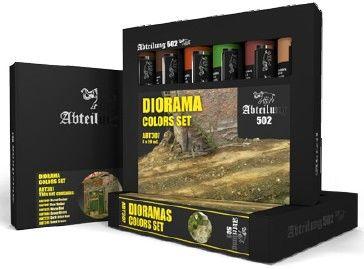 DIORAMA COLORS Weathering Oil Paint Set 6x20ml Tubes - Abteilung 502 ABT307