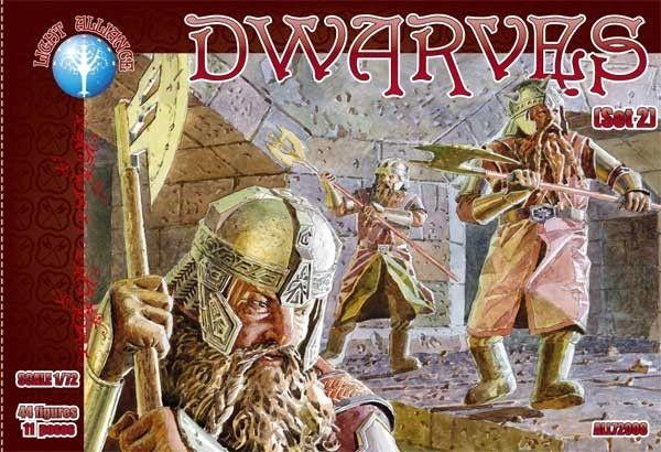 1/72 Dwarves Set #2 Figures (44) - ALLIANCE FIGURES 72008