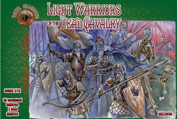 1/72 Light Warriors of the Dead Cavalry Figures (10 Mtd, 2 foot) - ALLIANCE FIGURES 72013