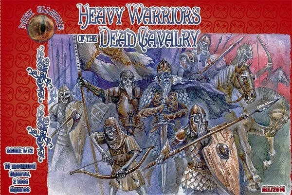 1/72 Heavy Warriors of the Dead Cavalry Figures (10 Mtd, 2 foot) - ALLIANCE FIGURES 72014