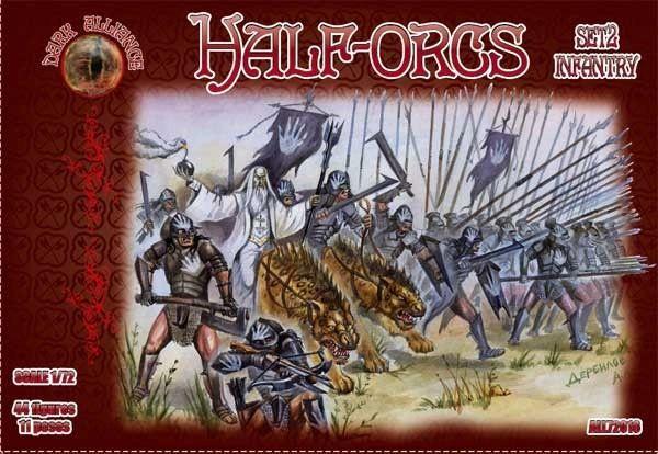 1/72 Half Orcs Infantry Set #2 Figures (44) - ALLIANCE FIGURES 72016