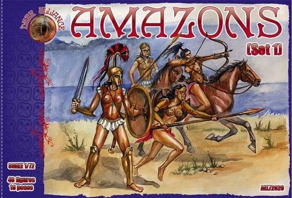 1/72 Amazons Women Warriors Set #1 Figures (40) - ALLIANCE FIGURES 72020