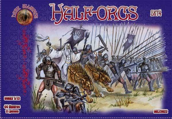 1/72 Half Orcs Set #4 Figures (44) - ALLIANCE FIGURES 72022