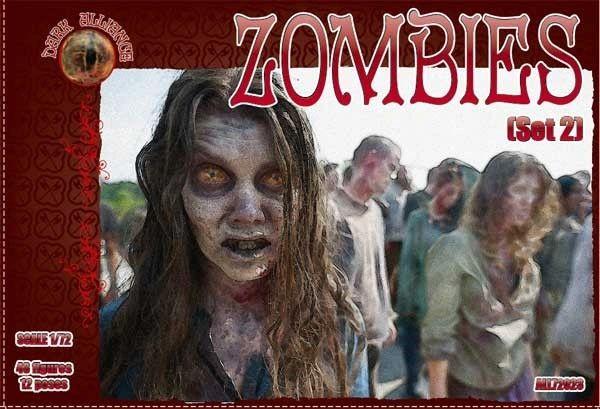 1/72 Zombies Set #2 Figures (48) - ALLIANCE FIGURES 72024