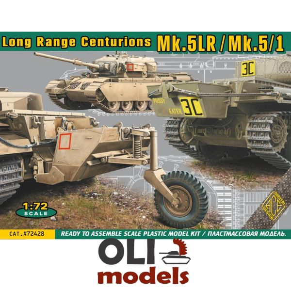 1/72 Long Range British MBT CENTURION Mk.5LR/Mk 5/1 Main Battle Tank - ACE 72428