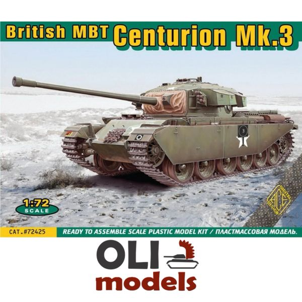 1/72 British MBT CENTURION Mk.3 Main Battle Tank - ACE 72425