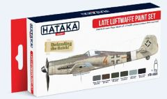Late Luftwaffe 1944-1945 Camouflage Paint Set (6 Colors) 17ml Bottles - Hataka AS3
