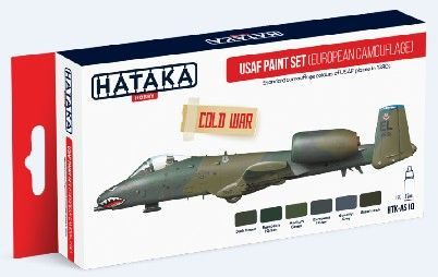 USAF 1980s Cold War Camouflage Paint Set (6 Colors) 17ml Bottles - Hataka AS10