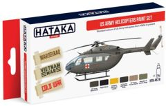 US Army Helicopter 1950s-Present Paint Set (6 Colors) 17ml Bottles - Hataka AS19