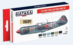Late WWII Soviet Air Force Paint Set (6 Colors) 17ml Bottles - Hataka AS20
