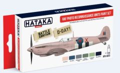 RAF Photo Recon Units 1940-1945 Paint Set (6 Colors) 17ml Bottles - Hataka AS23