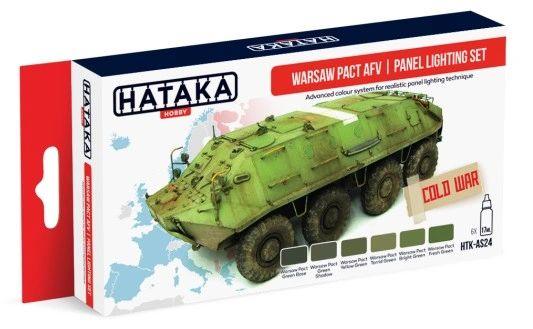 Warsaw Pact AFV Panel Lighting Paint Set (6 Colors) 17ml Bottles - Hataka AS24