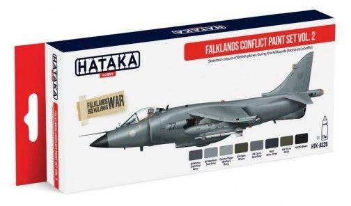 Falklands Malvinas Conflict British Air Force Vol.2 Paint Set (8 Colors) 17ml Bottles - Hataka AS28