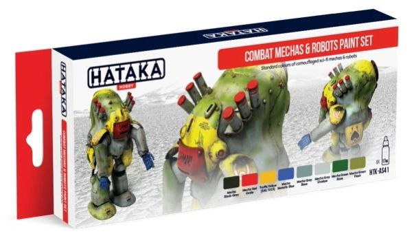 Combat Mechas & Robots Sci-Fi Camouflage Paint Set (8 Colors) 17ml Bottles - Hataka AS41