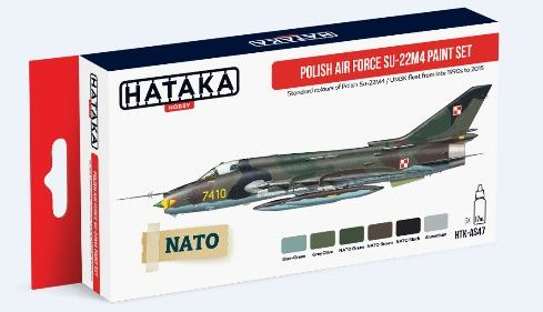 Polish Air Force Su22M4/UM3K Late 1990s-2015 Paint Set (6 Colors) 17ml Bottles - Hataka AS47