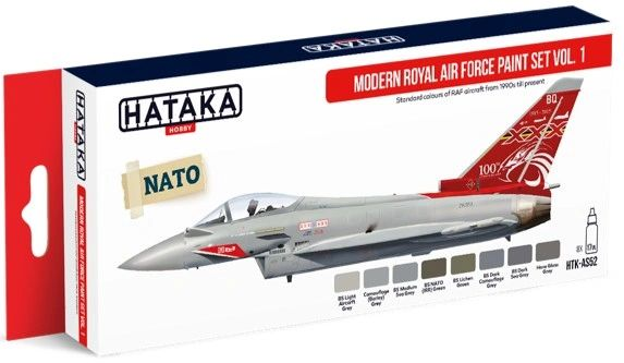 Modern Royal Air Force 1990s-Present Vol.1 Paint Set (8 Colors) 17ml Bottles - Hataka AS52