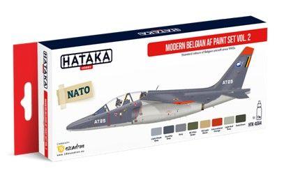 Modern Belgian Air Force 1990s-Present Vol.2 Paint Set (8 Colors) 17ml Bottles - Hataka AS64
