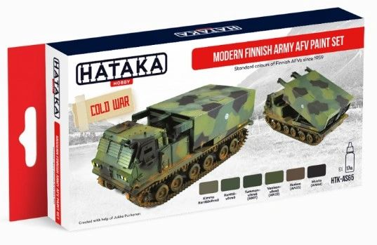 Modern Finnish Army AFV 1959-Present Paint Set (6 Colors) 17ml Bottles - Hataka AS65