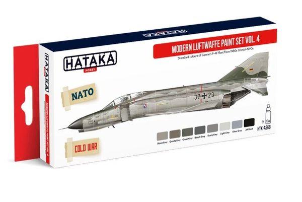 Modern Luftwaffe 1980s- Mid 1990s Vol.4 Paint Set (8 Colors) 17ml Bottles - Hataka AS66
